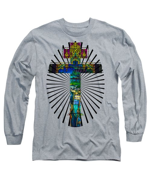 Long Sleeve T-Shirt featuring the photograph Christian Cross No 1 by Robert G Kernodle