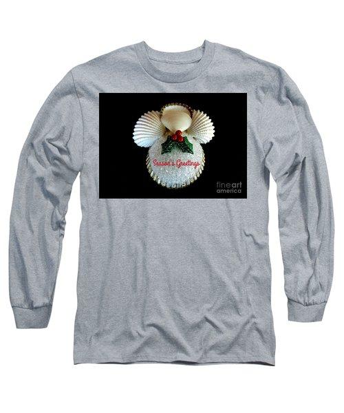 Christmas Angel Greeting Long Sleeve T-Shirt