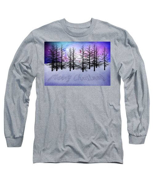 Christmas Bare Trees Long Sleeve T-Shirt