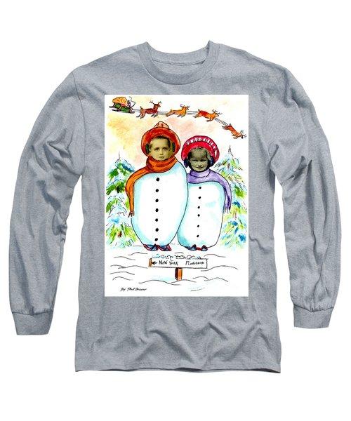Happy Holidays Long Sleeve T-Shirt by Philip Bracco