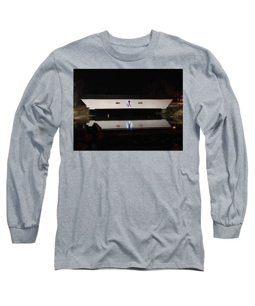 Christmas Covered Bridge Long Sleeve T-Shirt