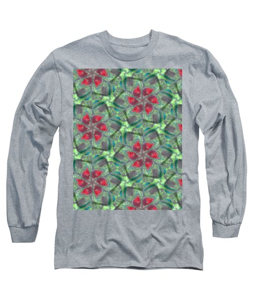 Christmas Flowers Long Sleeve T-Shirt by Maria Watt