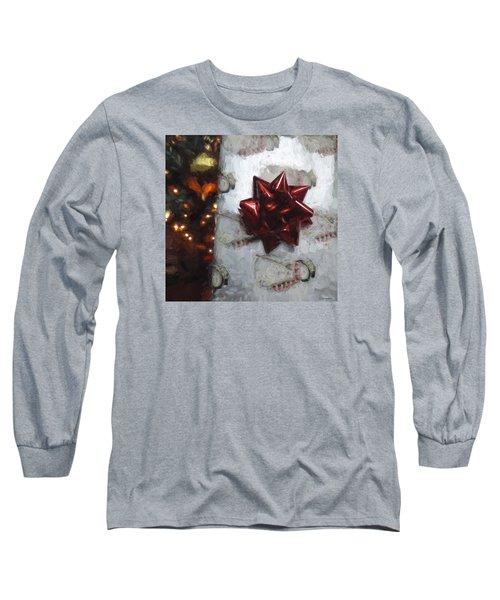 Christmas Gift Long Sleeve T-Shirt by Cathy Jourdan