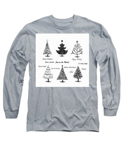 Long Sleeve T-Shirt featuring the photograph Christmas Illustration by Stephanie Frey
