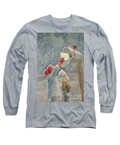 Christmas Letter Long Sleeve T-Shirt by Marilyn Jacobson