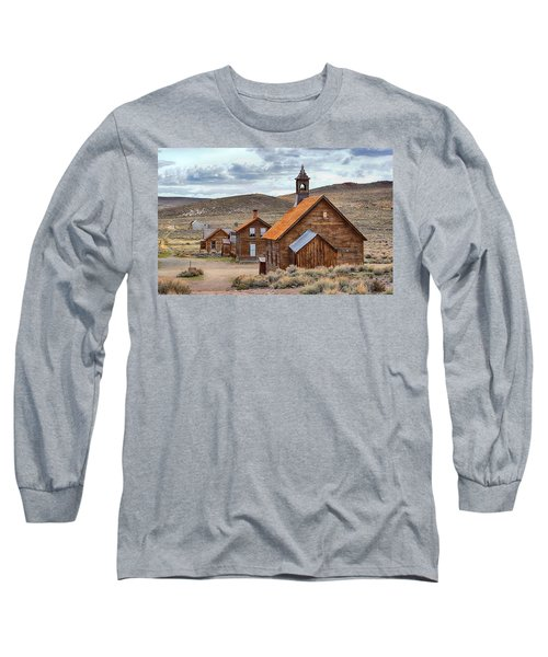 Church At Bodie Ghost Town Long Sleeve T-Shirt