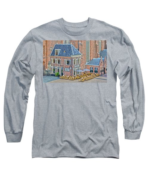 Long Sleeve T-Shirt featuring the photograph Church Cafe In Groningen by Frans Blok