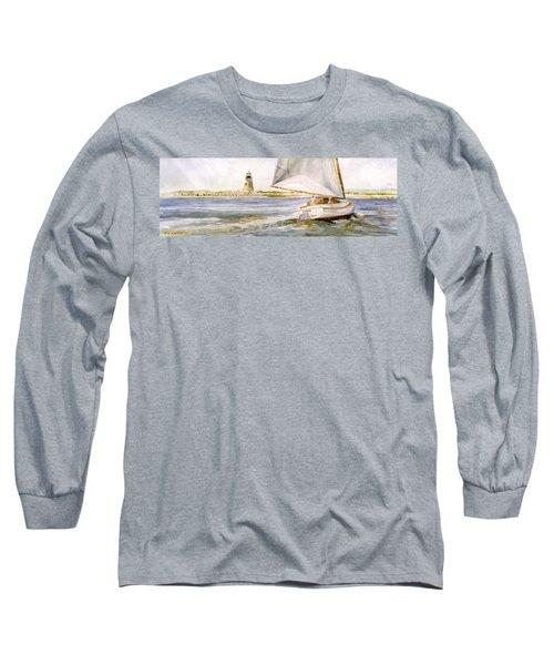 Cimba At Bird Island Light Long Sleeve T-Shirt by P Anthony Visco