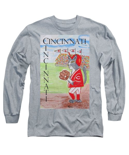 Cinci Reds Cat Long Sleeve T-Shirt