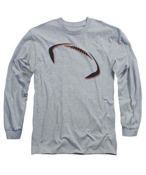 Long Sleeve T-Shirt featuring the photograph Cincinnati Bengals Football Shirt by Joe Hamilton