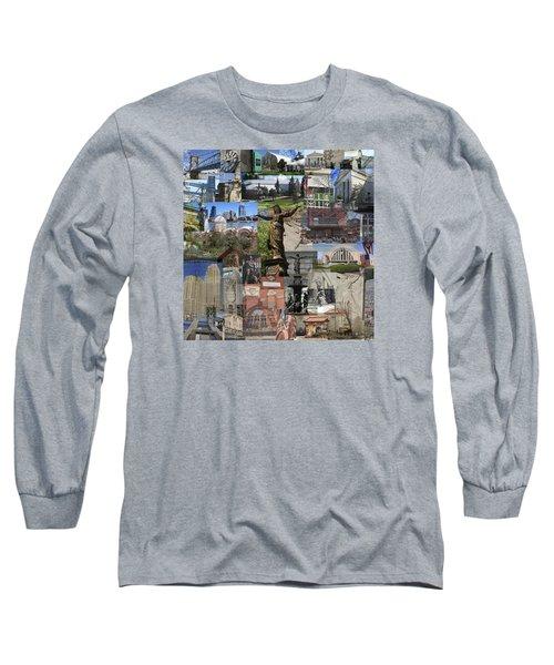 Long Sleeve T-Shirt featuring the photograph Cincinnati's Favorite Landmarks by Robert Glover