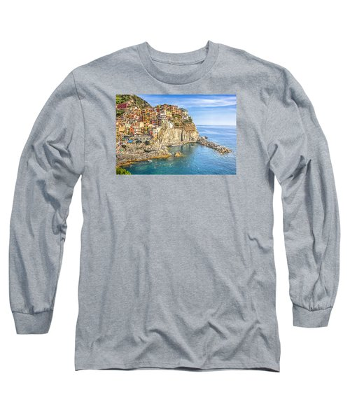 Long Sleeve T-Shirt featuring the photograph Cinque Terre by Brent Durken