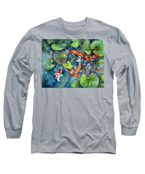 Circle Of Koi Long Sleeve T-Shirt by Mary McCullah