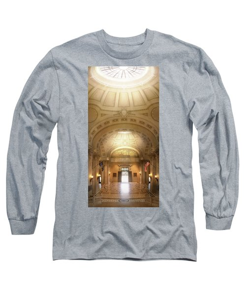 Long Sleeve T-Shirt featuring the photograph City - Annapolis Md - Bancroft Hall by Mike Savad