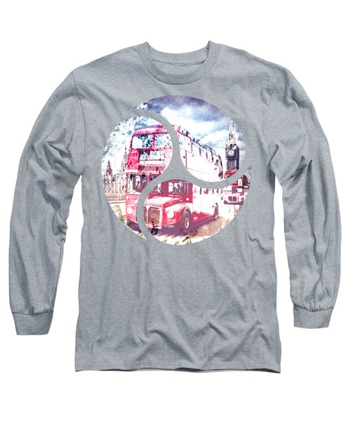 City-art London Red Buses On Westminster Bridge Long Sleeve T-Shirt