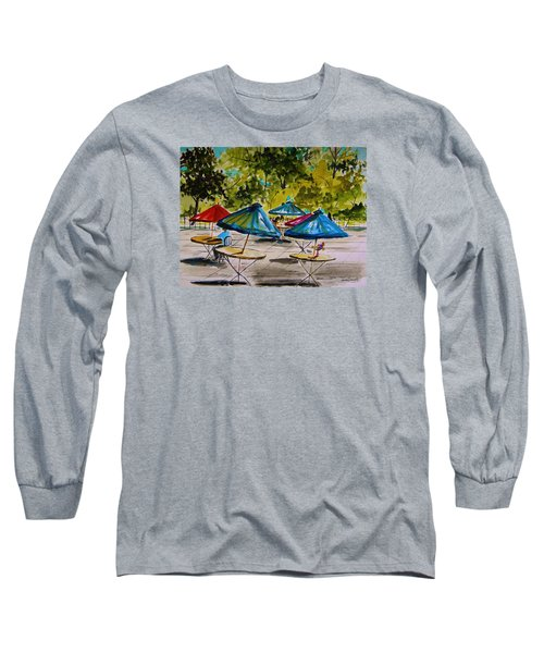 City Cafe Long Sleeve T-Shirt by John Williams