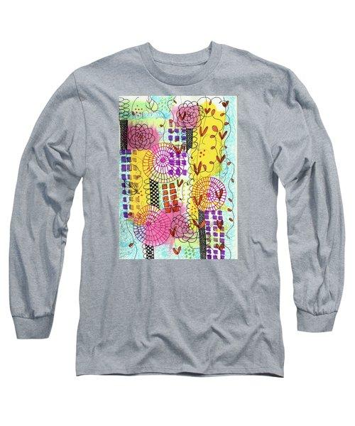 City Flower Garden Long Sleeve T-Shirt by Lisa Noneman