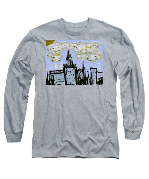 City In Blue Long Sleeve T-Shirt