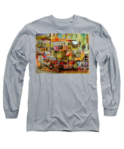 City Life  Long Sleeve T-Shirt by Nancy Kane Chapman