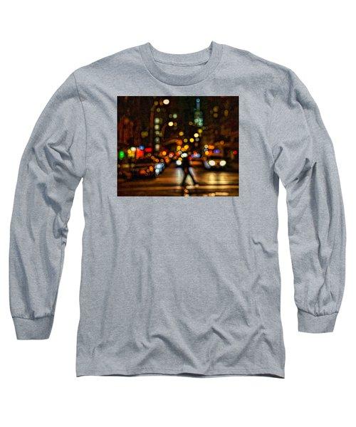 City Nights, City Lights Long Sleeve T-Shirt by Jeffrey Friedkin