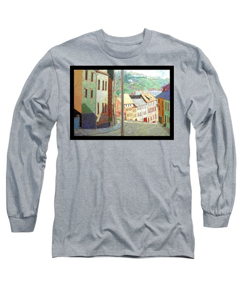City Scape-dyptich Long Sleeve T-Shirt by Walter Casaravilla