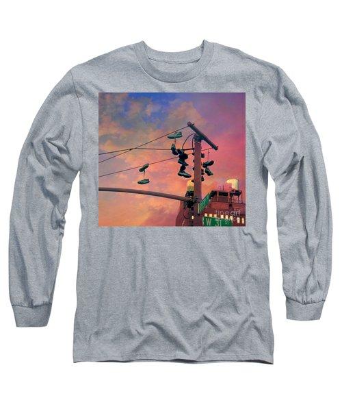 City Shoe Flinging Long Sleeve T-Shirt