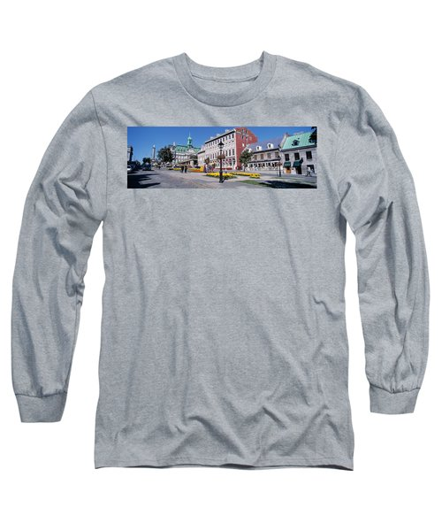 Cityscape Montreal Quebec Canada Long Sleeve T-Shirt