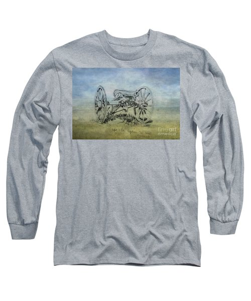 Long Sleeve T-Shirt featuring the digital art Civil War Cannon Sketch  by Randy Steele