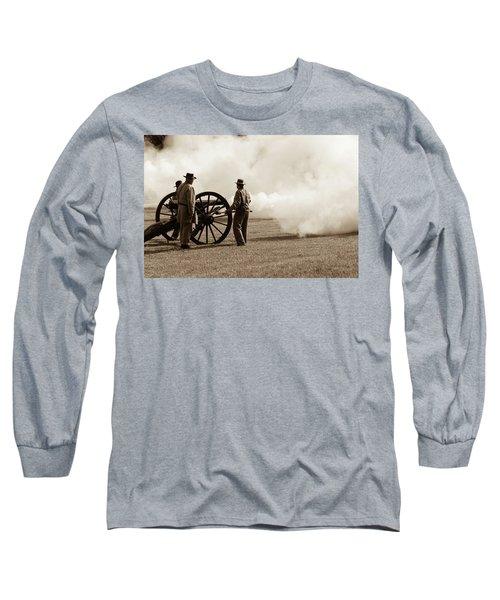 Civil War Era Cannon Firing  Long Sleeve T-Shirt
