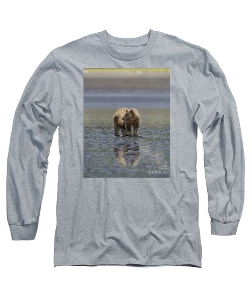 Long Sleeve T-Shirt featuring the photograph Clamming The Day Away by Sandra Bronstein