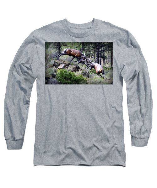 Long Sleeve T-Shirt featuring the photograph Clash Of The Titans by AJ Schibig