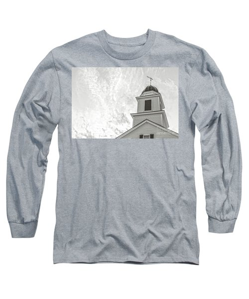 Classic New England Church Etna New Hampshire Long Sleeve T-Shirt
