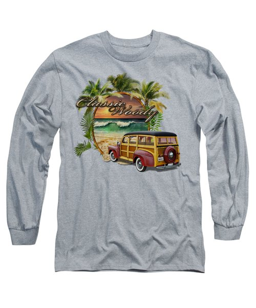 Classic Woody Long Sleeve T-Shirt by Rob Corsetti