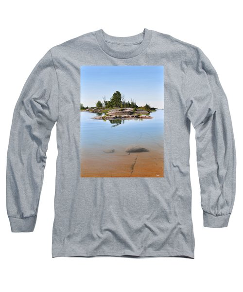 Long Sleeve T-Shirt featuring the painting Clear Contentment by Kenneth M Kirsch
