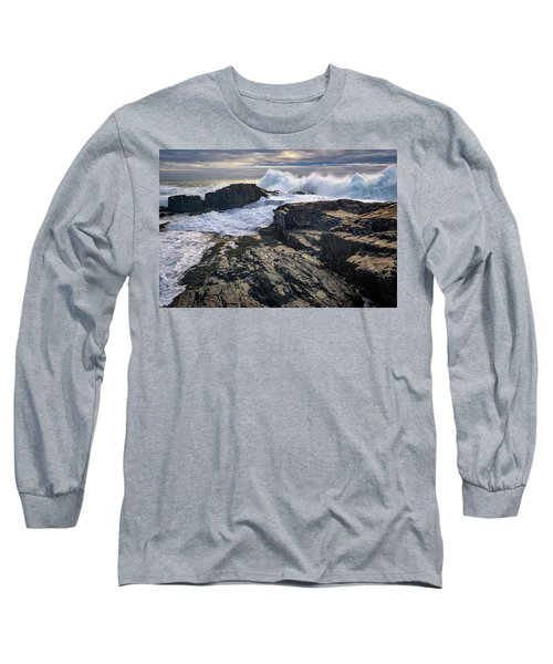 Long Sleeve T-Shirt featuring the photograph Clearing Storm At Bald Head Cliff by Rick Berk