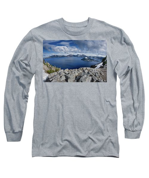 Clearing Storm At Crater Lake Long Sleeve T-Shirt