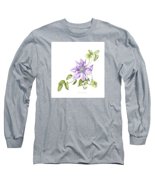 Clematis Cezanne Long Sleeve T-Shirt