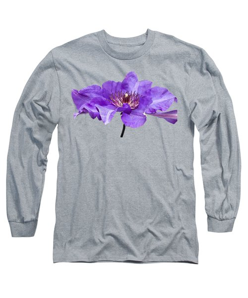 Clematis Long Sleeve T-Shirt by Scott Carruthers