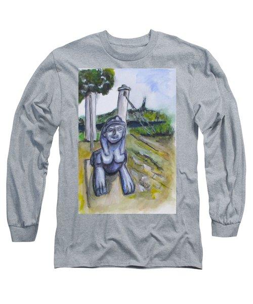 Cleopatra Bridge Ruins, Gaeta Italy Long Sleeve T-Shirt by Clyde J Kell