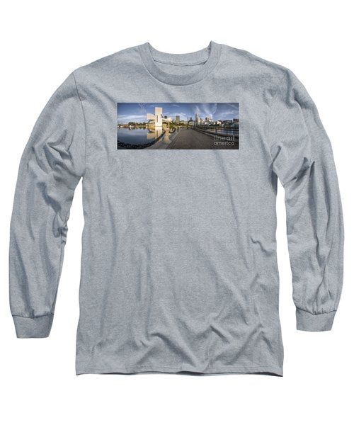 Cleveland Panorama Long Sleeve T-Shirt by James Dean