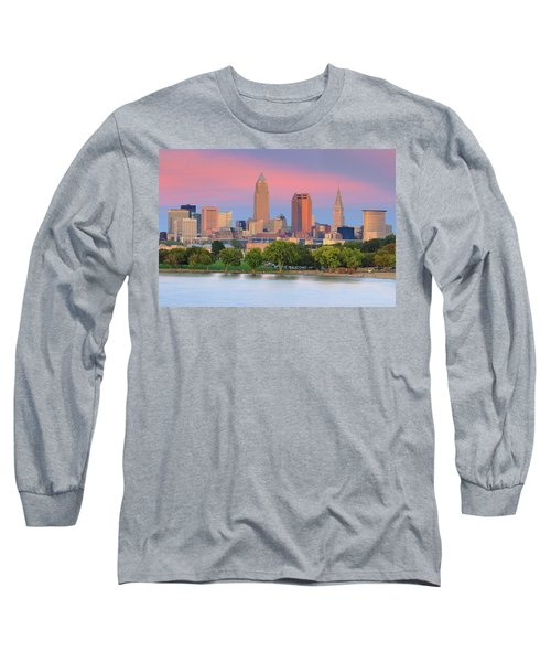 Long Sleeve T-Shirt featuring the photograph Cleveland Skyline 6 by Emmanuel Panagiotakis