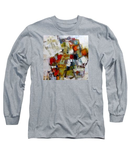 Long Sleeve T-Shirt featuring the painting Clever Clogs by Katie Black