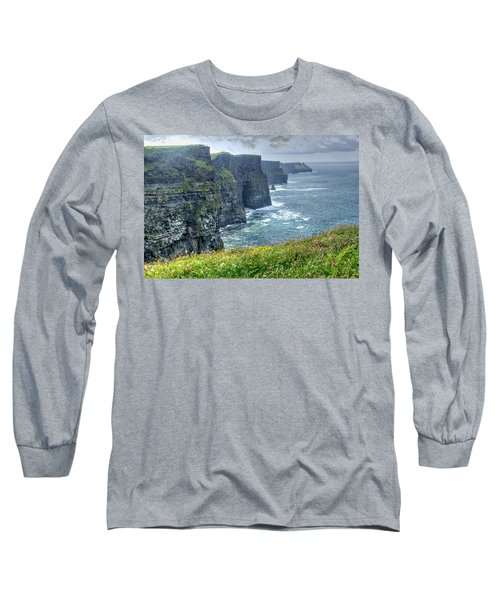 Long Sleeve T-Shirt featuring the photograph Cliffs Of Moher by Alan Toepfer