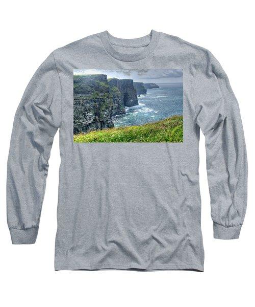 Cliffs Of Moher Long Sleeve T-Shirt by Alan Toepfer