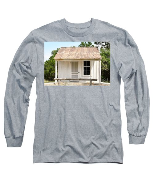 Long Sleeve T-Shirt featuring the photograph Clint's Cabin - Texas - Close-up by Ray Shrewsberry
