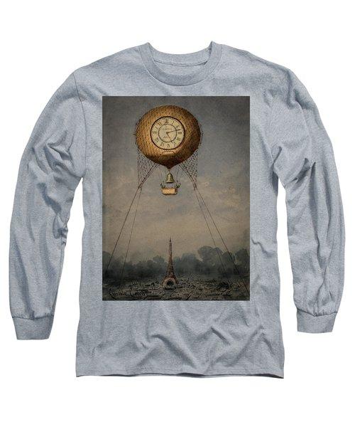 Clock Over Paris Long Sleeve T-Shirt