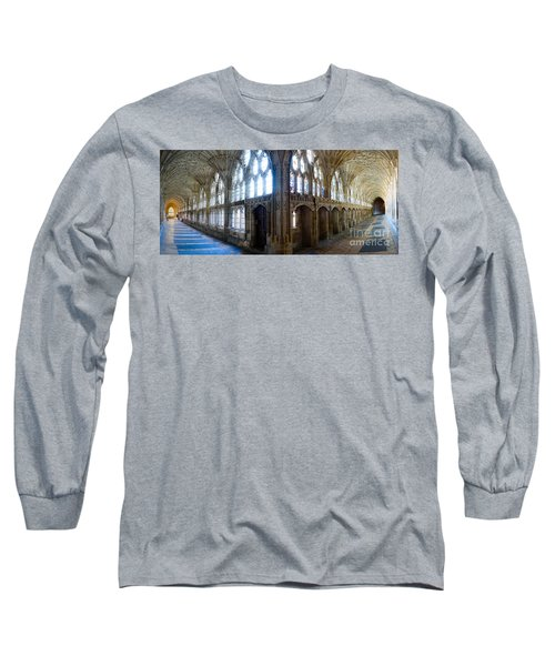 Cloisters, Gloucester Cathedral Long Sleeve T-Shirt by Colin Rayner