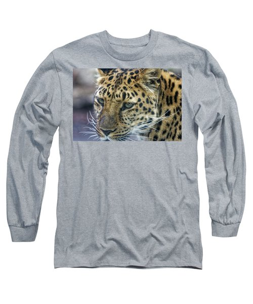 Close Up Of Leopard Long Sleeve T-Shirt