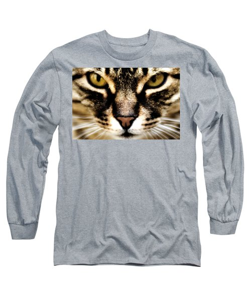 Close Up Shot Of A Cat Long Sleeve T-Shirt