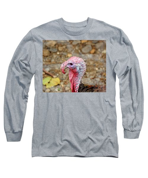 Long Sleeve T-Shirt featuring the photograph Closeup Of A Male Turkey by Yali Shi